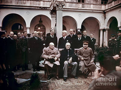 Stalin Photograph - Yalta Conference, 1945 by Granger