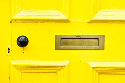 Yellow Photograph - Yellow Door by Tom Gowanlock