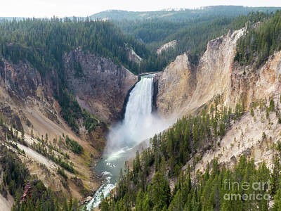 Photograph - Yellowstone Lower Falls by Rod Jones