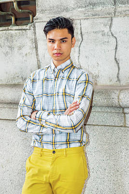 Photograph - Young Asian American Man In New York by Alexander Image