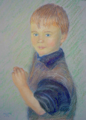 Pastel - Young Boy by Masami Iida