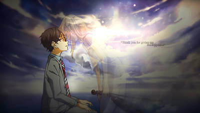 Fantasy Digital Art - Your Lie In April by Super Lovely