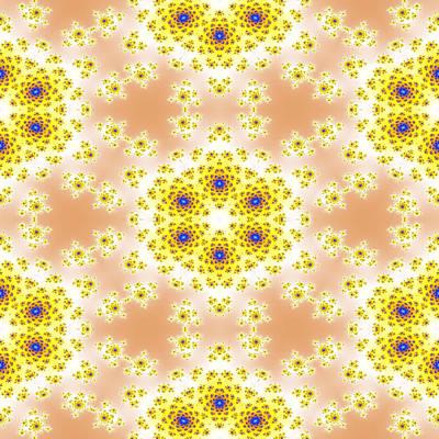 Steampunk - Fractal floral pattern by Miroslav Nemecek