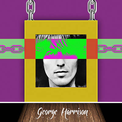 George Mixed Media - George Harrison Collection by Marvin Blaine