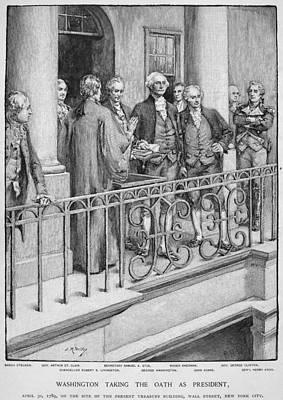 Inauguration Photograph - George Washington by Granger