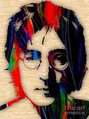 The Rock Mixed Media - John Lennon Collection by Marvin Blaine