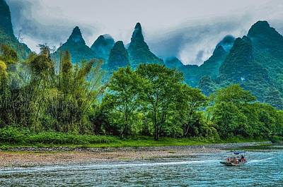 Photograph - Karst Mountains And Lijiang River Scenery by Carl Ning