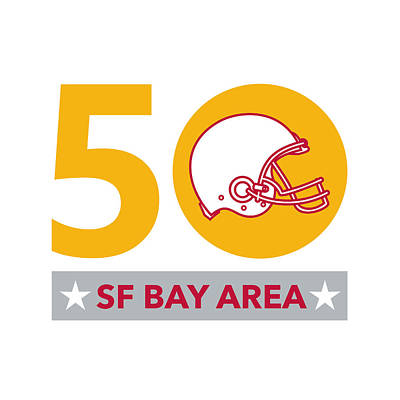 50 Pro Football Championship Sf Bay Area Art Print by Aloysius Patrimonio