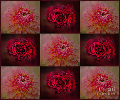 Mixed Media - 50 Shades Of Red by Eva Lechner