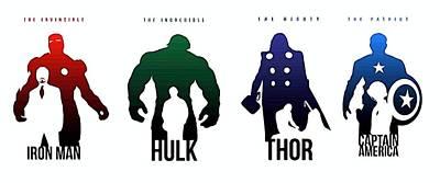 The Avengers Movie Art Print by Egor Vysockiy