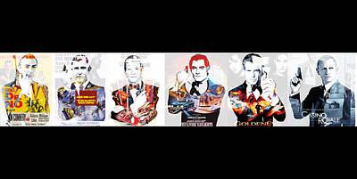 Digital Art - 50 Years Of Bond by Kurt Ramschissel