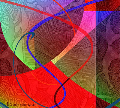 504 Digital Art - 504 - Patterns  2017 by Irmgard Schoendorf Welch