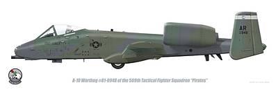 Digital Art - 509th Tfs A-10 Warthog by Barry Munden