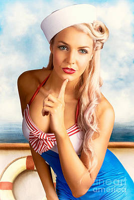 Digital Art - 50s And 60s Pinup Style Photo Illustration by Jorgo Photography - Wall Art Gallery
