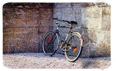 Bicycle Digital Art - 50's Bicycle by KJ DePace