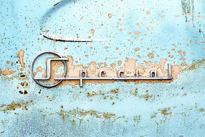 Rusted Cars Photograph - 50s Buick Special Nameplate by Jim Hughes