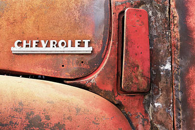 Photograph - 50s Chevrolet Pickup Logo by Jim Hughes