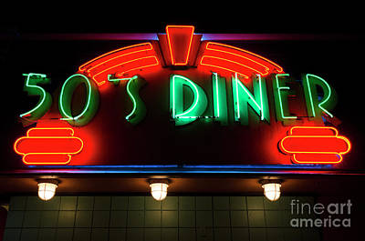 50's Diner Art Print by Bob Christopher