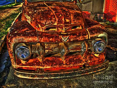 50s Ford Truck Art Print by Corky Willis Atlanta Photography