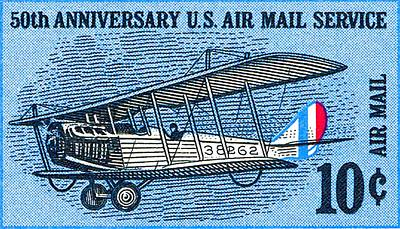 Painting - 50th Anniversary U.s. Air Mail Service by Lanjee Chee