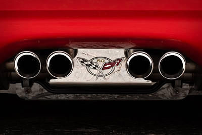 Photograph - 50th Anniversary Vette Exhaust by  Onyonet  Photo Studios