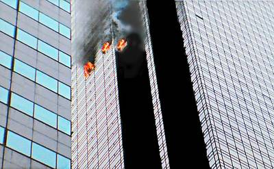 Photograph - 50th Floor Fire by Diana Angstadt