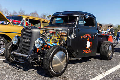 Photograph - 51 Ford F-1 Rat Rod - Ehhs Car Show by Michael Sussman