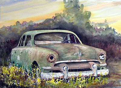 Painting - 51 Ford by Sam Sidders