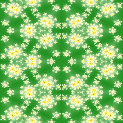 Israeli Flag - Fractal floral pattern by Miroslav Nemecek