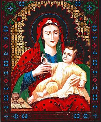 Mary Saint Print by Christian Art