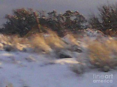 Snowy Desert Landscape Art Print by Frederick Holiday