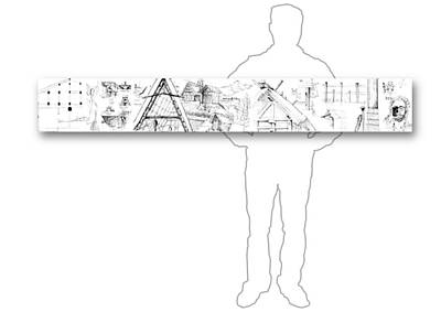 Drawing - 5.11.japan-3-horizontal-with-figure by Charlie Szoradi