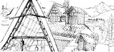 Drawing - 5.15.japan-3-detail-b by Charlie Szoradi