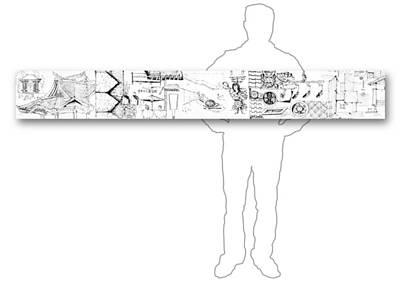 Drawing - 5.16.japan-4-horizontal-with-figure by Charlie Szoradi