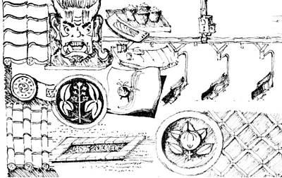 Drawing - 5.19.japan-4-detail-c by Charlie Szoradi