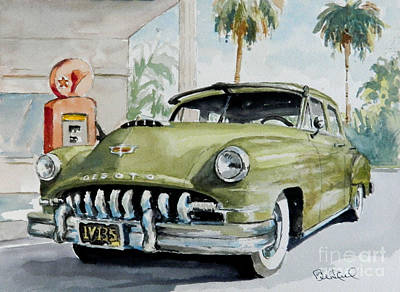 Desoto Car Painting - '52 Desoto by William Reed