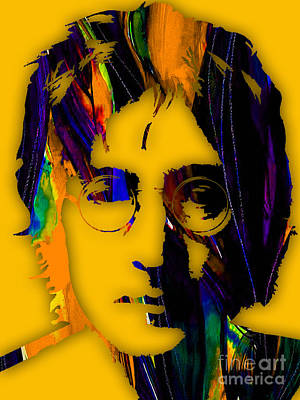 The Beatles Mixed Media - John Lennon Collection by Marvin Blaine