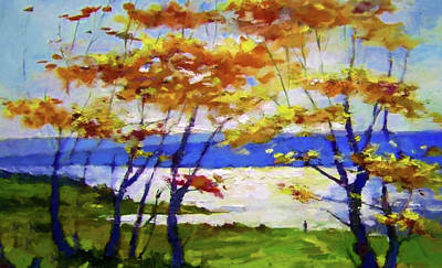 Alley Painting - Nature Landscape Nature by Edna Wallen