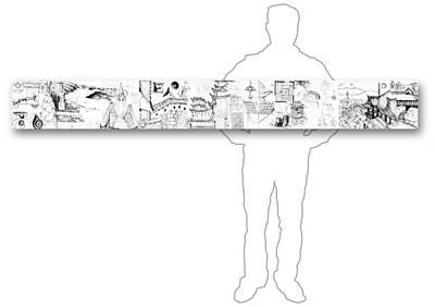 Drawing - 5.21.japan-5-horizontal-with-figure by Charlie Szoradi