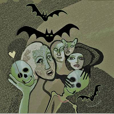 Hallucination Painting -  524 Halloween Happy Hour  A          by Irmgard Schoendorf Welch