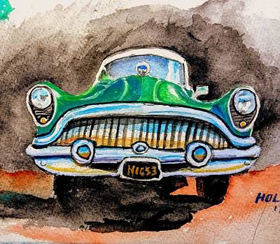 Painting - 53 Buick by Steven Holder