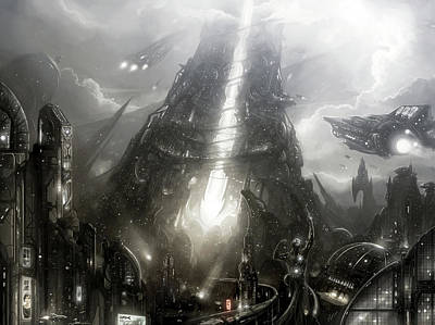 Fantasy Digital Art - City by Super Lovely
