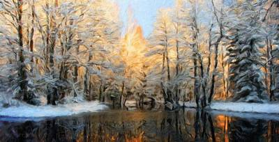 Landscape Painting - Nature Landscape Artwork by Margaret J Rocha