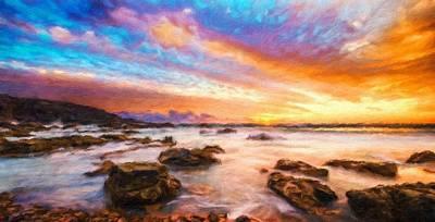 Blue Painting - Nature Landscape Pictures by Margaret J Rocha