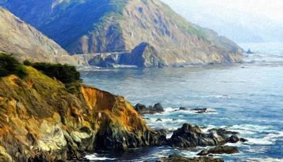 Bushes Painting - Nature Oil Painting Landscape Images by Margaret J Rocha