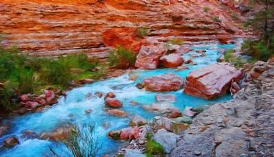 Twilight Painting - Nature Work Landscape by Margaret J Rocha