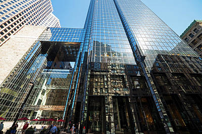 53 State Street Boston Ma Exchange Place Sun Reflection Art Print by Toby McGuire