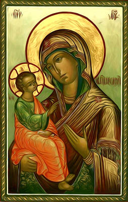Virgin And Child Print by Christian Art