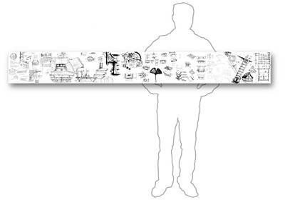 Drawing - 5.34.japan-8-horizontal-with-figure by Charlie Szoradi