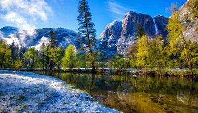 Winter Digital Art - Framed Landscape by Victoria Landscapes